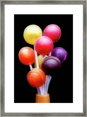 Lollipop Bouquet Framed Print by Tom Mc Nemar