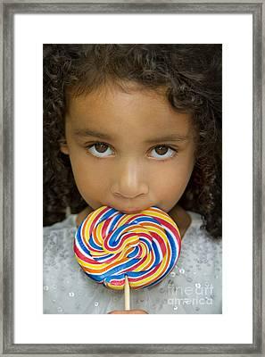 Lollipop Framed Print by Evelina Kremsdorf
