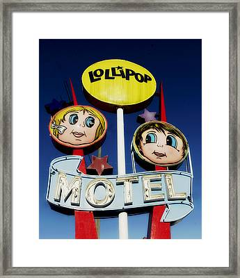 Lollipop Motel Framed Print