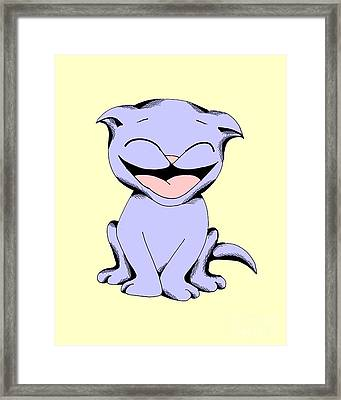 Framed Print featuring the drawing Lolly Laughing In Toy Colors by Pet Serrano