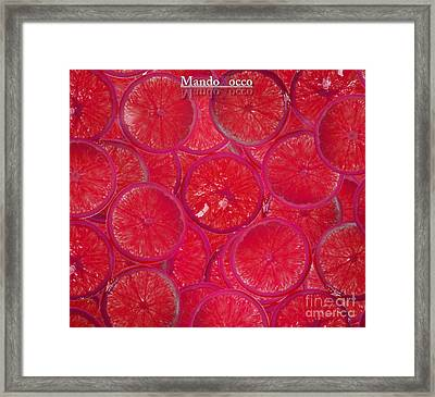 Lolly Orange Framed Print