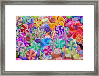 Lolly Pop Land Framed Print by Alixandra Mullins