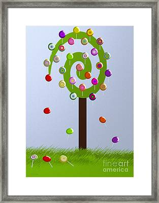Lolly Pop Tree Framed Print by Andee Design