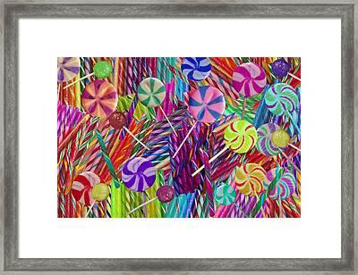 Lolly Pop Twists Framed Print by Alixandra Mullins