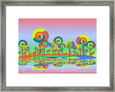 Lollypop Island Framed Print by Anastasiya Malakhova
