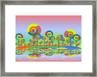 Lollypop Island Framed Print