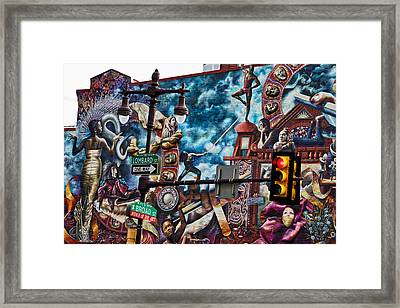 Lombard And Broad Framed Print