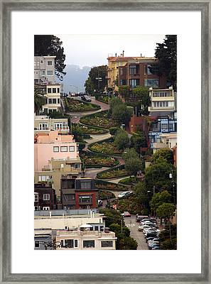 Lombard Street Framed Print by David Salter