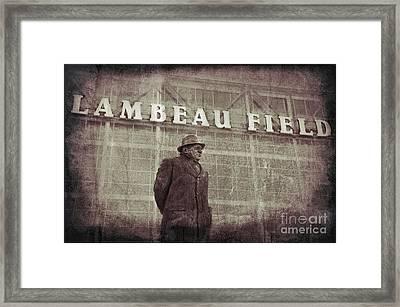 Lombardi At Lambeau Framed Print