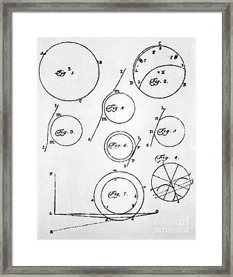 Lomonosov's Diagrams Of Venus Transit Framed Print