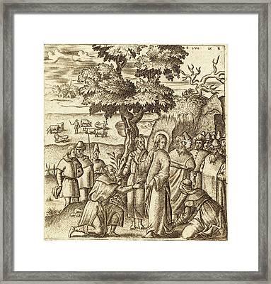 Léonard Gaultier French, 1561 - 1641, Christ Heals A Sick Framed Print by Quint Lox