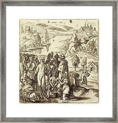 Léonard Gaultier French, 1561 - 1641, Christ Heals The Sick Framed Print by Quint Lox
