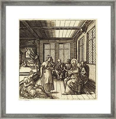 Léonard Gaultier French, 1561 - 1641, Christ In The House Framed Print