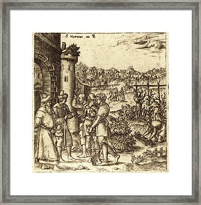 Léonard Gaultier, French 1561-1641, The Parable Framed Print by Litz Collection