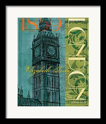 Tower Clock Framed Prints