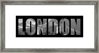 London 7  Framed Print