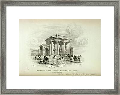 London And Birmingham Railway Framed Print by British Library