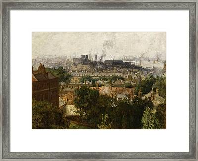 London And The Thames From Greenwich Framed Print