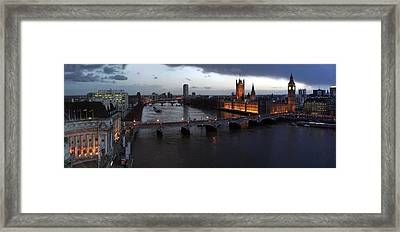 London At Dusk Framed Print by Gary Lobdell