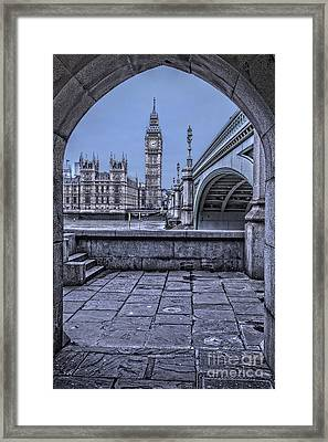 London Big Ben And Westminster Through The Arch Framed Print