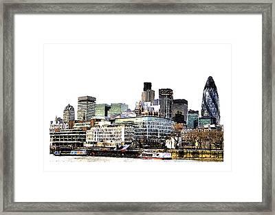 London Framed Print by Brenda Leedy