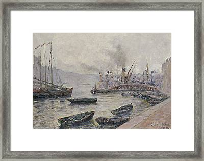 London Bridge Framed Print by Adolphe Clary Baroux