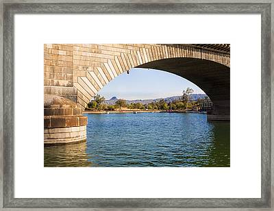 London Bridge At Lake Havasu City Framed Print by Fred Larson