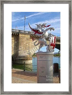 London Bridge Dragon Framed Print by Gregory Dyer
