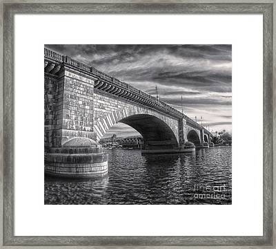 London Bridge In Black And White Framed Print by Gregory Dyer