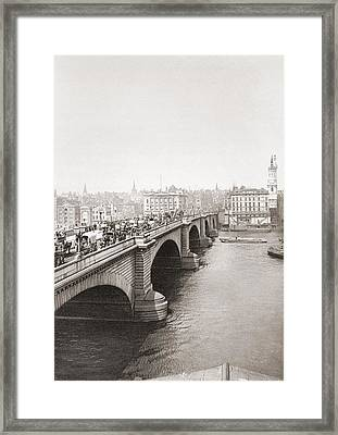 London Bridge, London, England In The Late 19th Century. From London, Historic And Social Framed Print