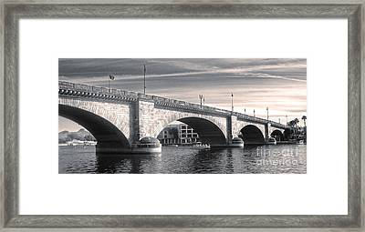 London Bridge Panorama Framed Print by Gregory Dyer