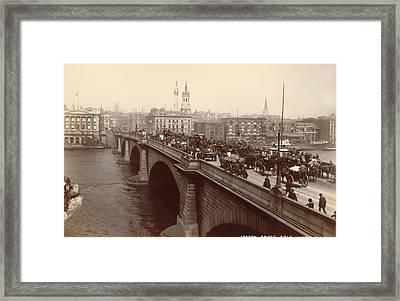 London Bridge Traffic Framed Print by Underwood Archives