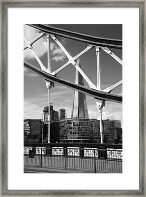 Framed Print featuring the photograph London Bridge With The Shard by Chevy Fleet