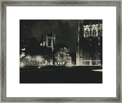 London Buildings Flood-lit Once Again� Framed Print by Retro Images Archive