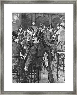London Businessmen At Lunch, 1891 Framed Print by  Illustrated London News Ltd/Mar