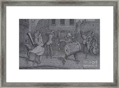 London Buskers 1853 Framed Print