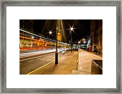 London By Night Framed Print by Gabor Fichtacher