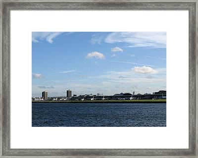 Framed Print featuring the photograph London City Airport by Helene U Taylor