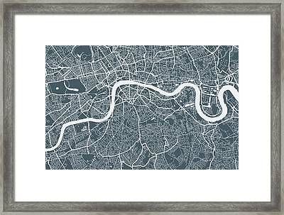 London City Map Framed Print