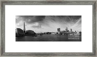 London City Panorama Framed Print by Pixel Chimp