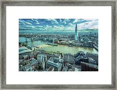 London Cityscape Framed Print by Peter Zelei Images