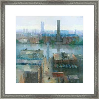 London Cityscape Framed Print by Steve Mitchell