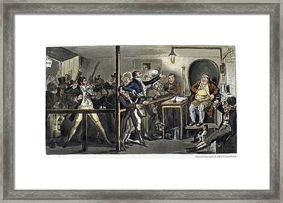 London Courtroom, 1821 Framed Print