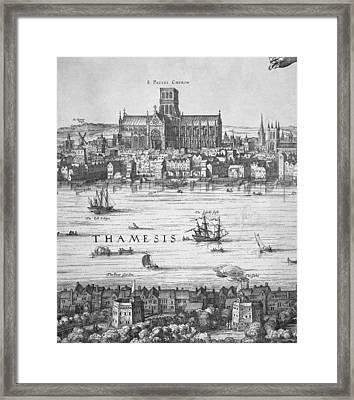 London During Elizabeth Is Reign 17th Framed Print