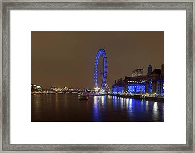 London Eye At Night Framed Print