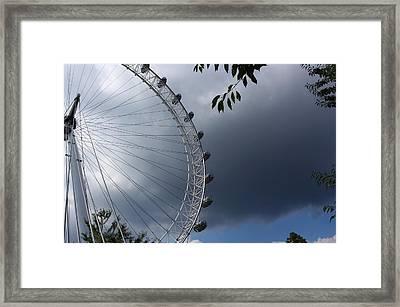 London Eye Clouds Framed Print by Nicky Jameson