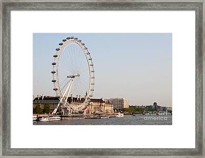 Framed Print featuring the photograph London Eye Day by Matt Malloy