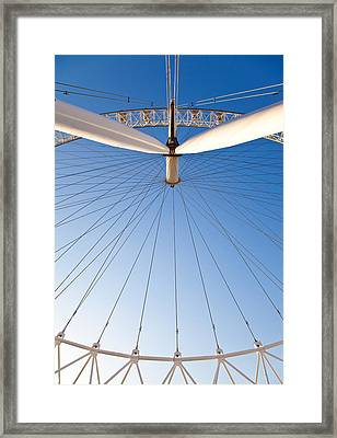 London Eye Geometry Framed Print by Adam Pender