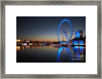 Framed Print featuring the photograph London Eye  by Mariusz Czajkowski