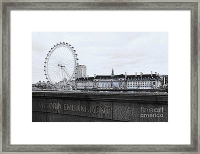 London Eye Mono Framed Print by Jasna Buncic